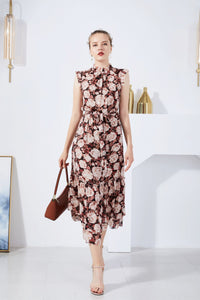 G.D.S Phoebe Floral Sleeveless Dress Red
