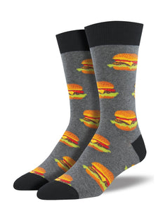 Socksmith 'Good Burger' Grey Heather Mens Socks