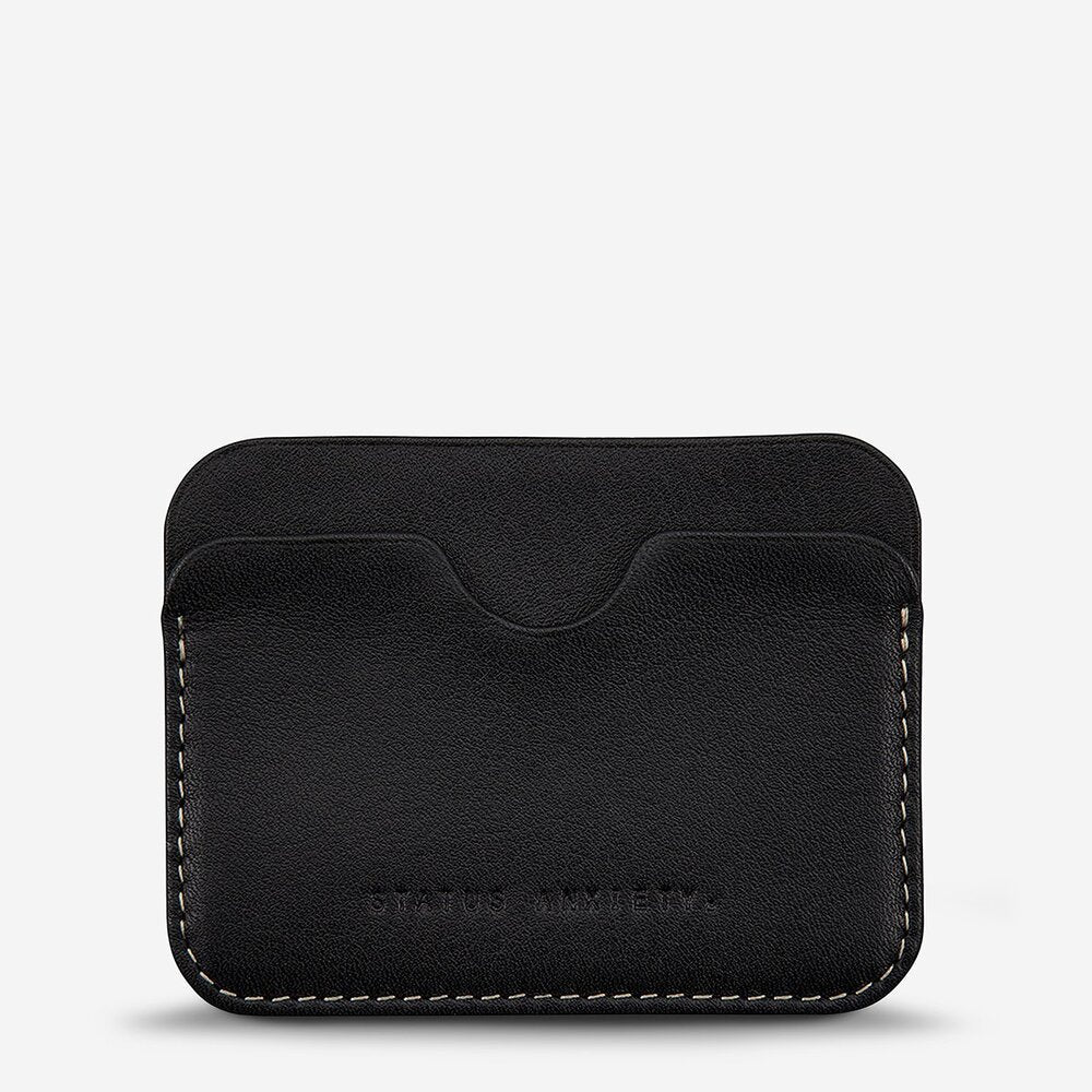 Status Anxiety Gus Wallet Black Leather