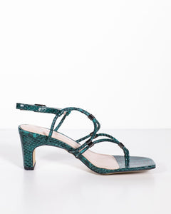 Mollini Hayles Emerald Python Leather