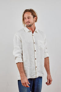 Hemp Clothing Australia Heritage Shirt Natural