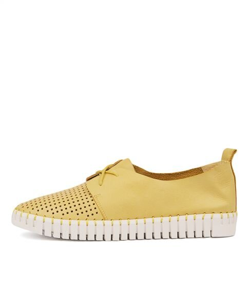 Django & Juliette Huston Yellow Leather