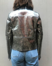 Load image into Gallery viewer, Neuw Denim Madison Leather Jacket Silver