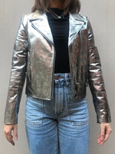 Load image into Gallery viewer, miss gladys sym choon adelaide neuw denim madison leather jacket silver sale
