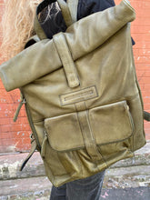 Load image into Gallery viewer, Sticks & Stones Messenger Backpack Dk Olive