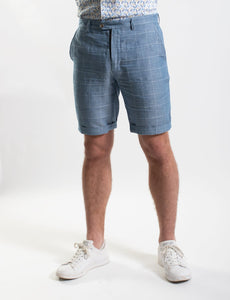 James Harper Check Shorts Navy