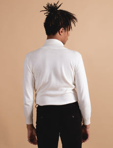 James Harper Turtleneck Knit Cream