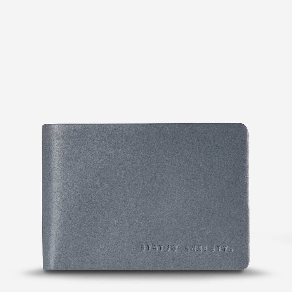 Status Anxiety Jonah Wallet Slate Leather