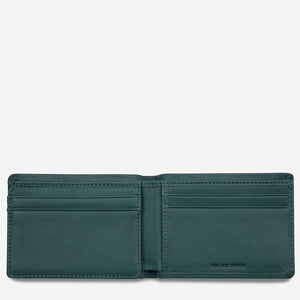 Status Anxiety Jonah Wallet Teal Leather