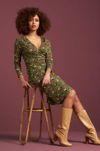 King Louie Cecil Dress Kansas Olive Green