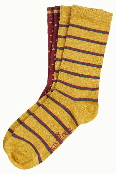 King Louie Socks 2-Pack Award Curry Yellow