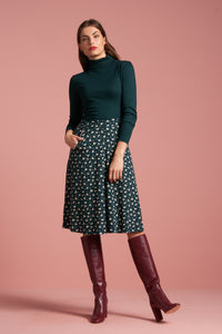 King Louie Sofia Midi Skirt Birdie Pine Green