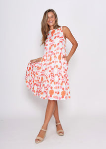 Leoni Reese Dress Poppies Print