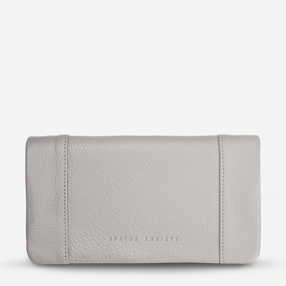 Status Anxiety Some Type of Love Wallet Cement Grey Leather