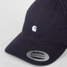 Load image into Gallery viewer, Carhartt WIP Madison Logo Cap Dark Navy/ Wax