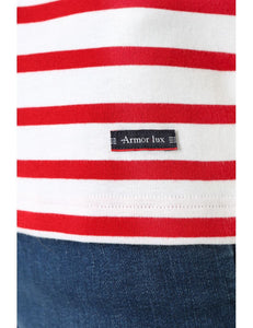 Armor Lux S/S T-Shirt White/Red