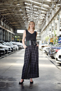 M. A. Dainty Spare Tire Harlequin Pants