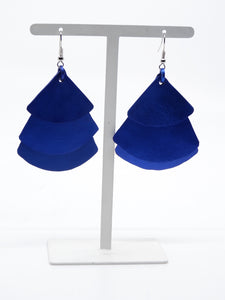 Monica Krexa Fan Earrings Blue