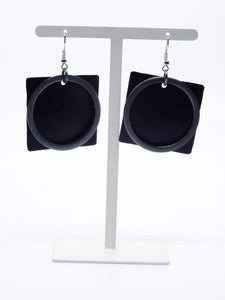 Monica Krexa Square & Circle Earrings Navy/Grey