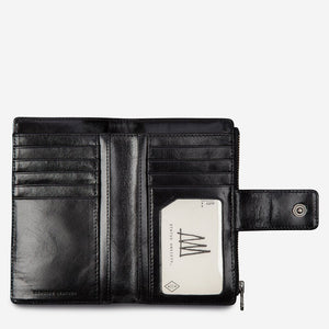 Status Anxiety Outsider Wallet Black Leather