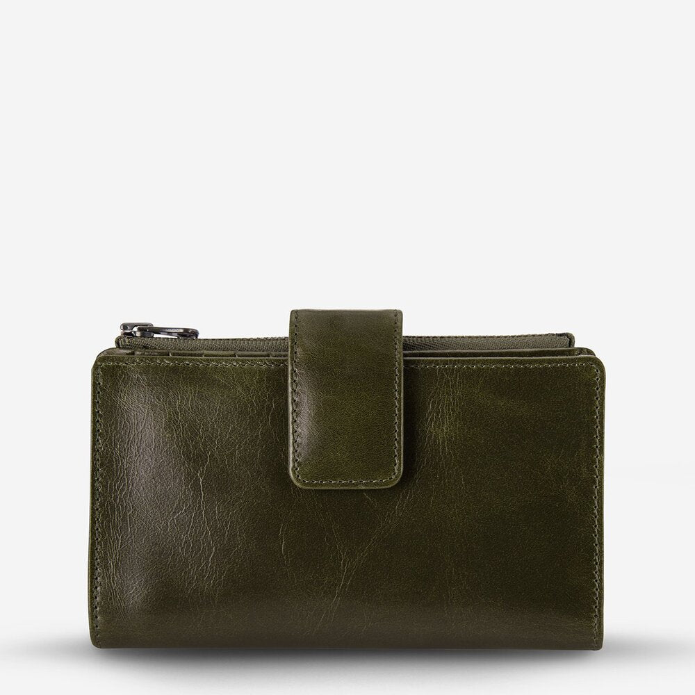 Status Anxiety Outsider Wallet Khaki Leather