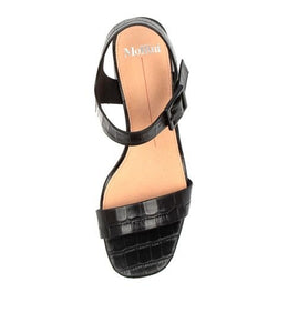 Mollini Palant Black Croc Leather