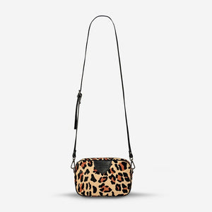 Status Anxiety Plunder Bag Ocelot Cowhide and Black Leather