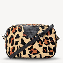 Load image into Gallery viewer, Status Anxiety Plunder Bag Ocelot Cowhide and Black Leather