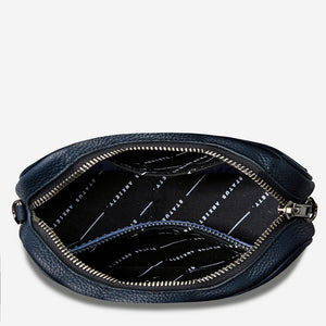 Status Anxiety Plunder Bag Navy Leather