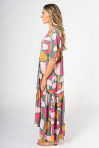 PQ Collection Peak Maxi Dress Treasure Hunt
