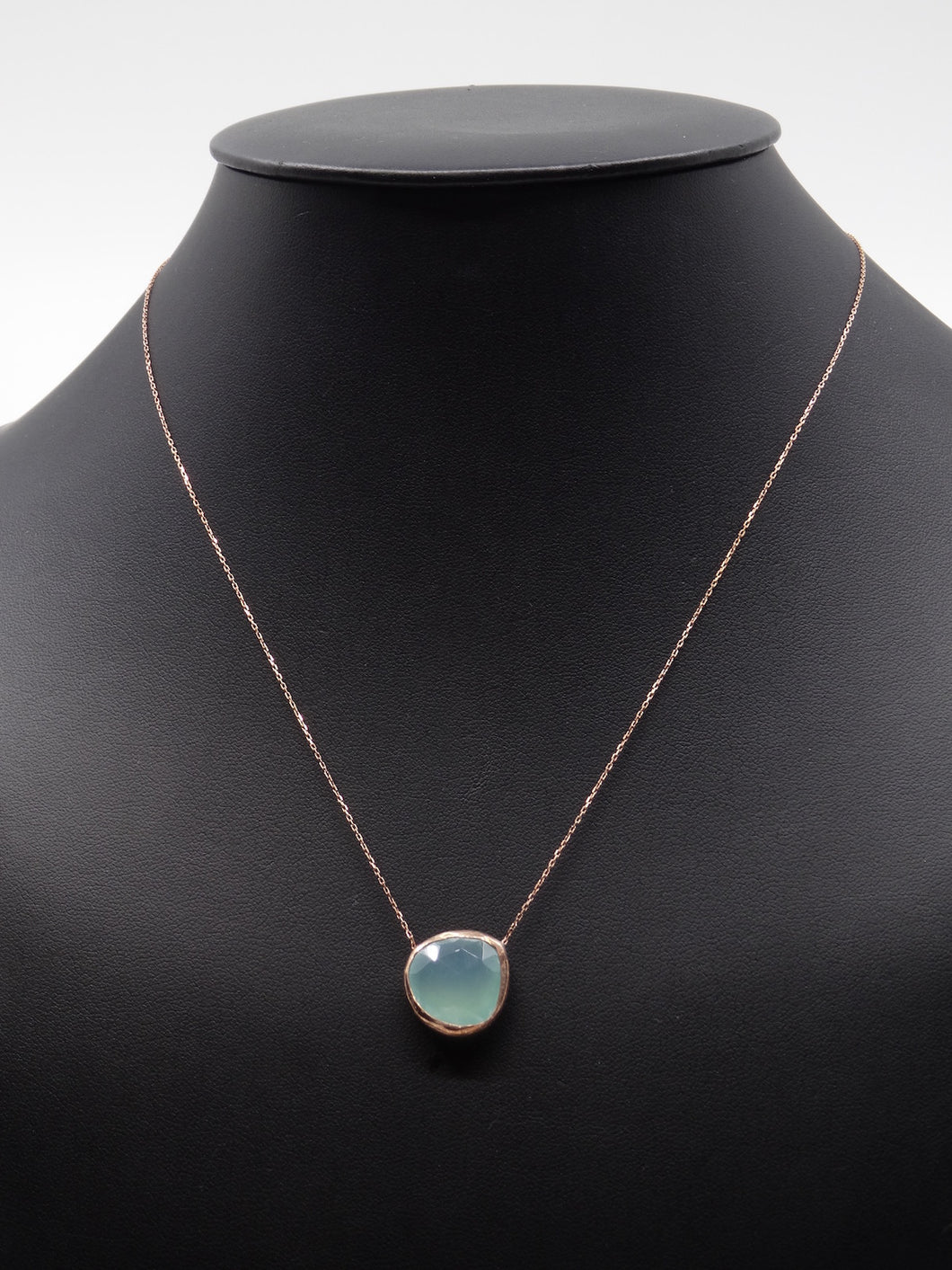 Red Turk Blue Chalcedony Necklace