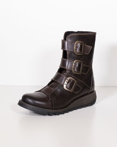 Fly London Scop Dark Brown Leather