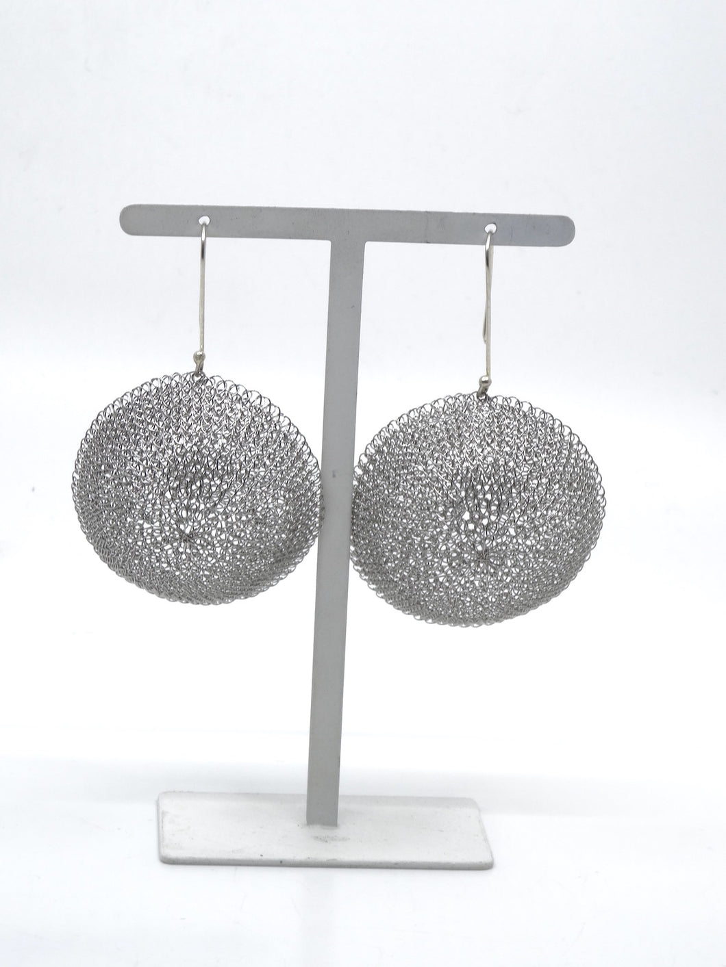 Seriously Dome Earrings Silver