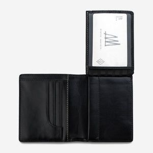 Status Anxiety Nathaniel Wallet Black Leather
