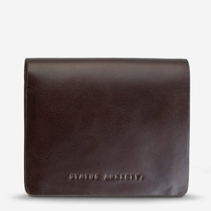 Status Anxiety Nathaniel Wallet Chocolate Leather
