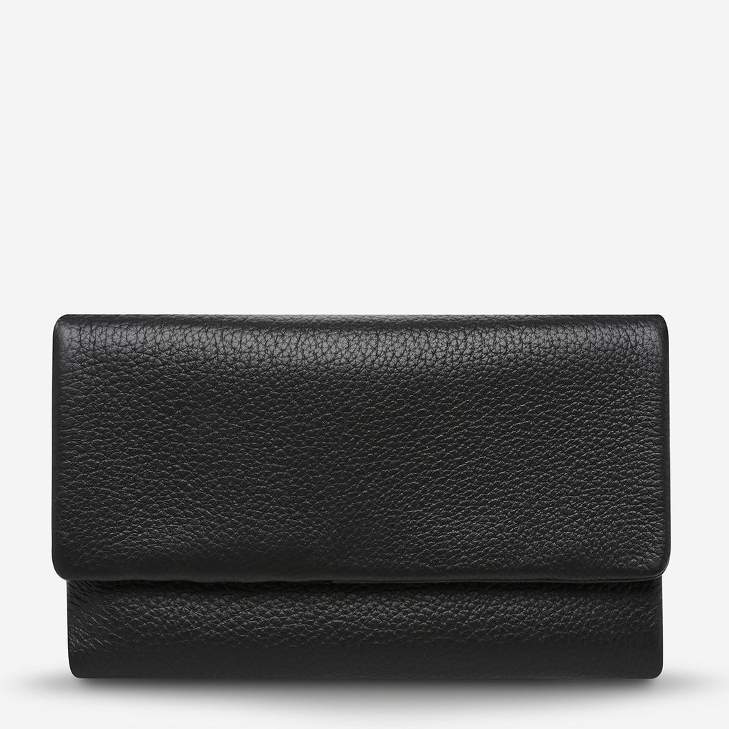Status Anxiety Audrey Wallet Black Pebble Leather