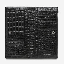 Load image into Gallery viewer, Status Anxiety In The Beginning Wallet Black Croc