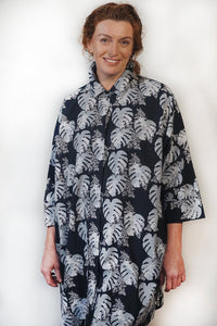 Tradition Textiles Hidden Fern Trail Shirt Dress Navy/Grey