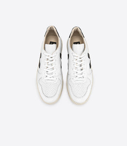 VEJA V-10 Extra White Black Leather