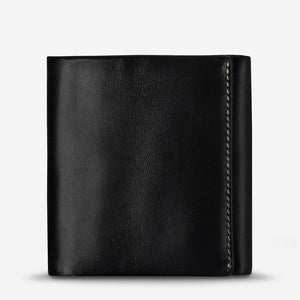Status Anxiety Vincent Wallet Black Leather