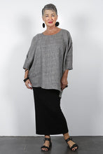 Load image into Gallery viewer, Zephyr Katie Plaid Top Grey Check