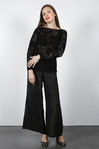 Zephyr Paris Top Black Velvet