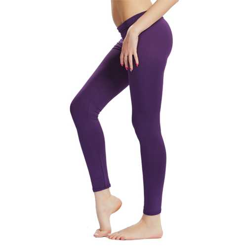 Women Ladies Plus Size Fitness Pants High Waist Stretch Leggings Gym Yoga Running Trousers Sportswear