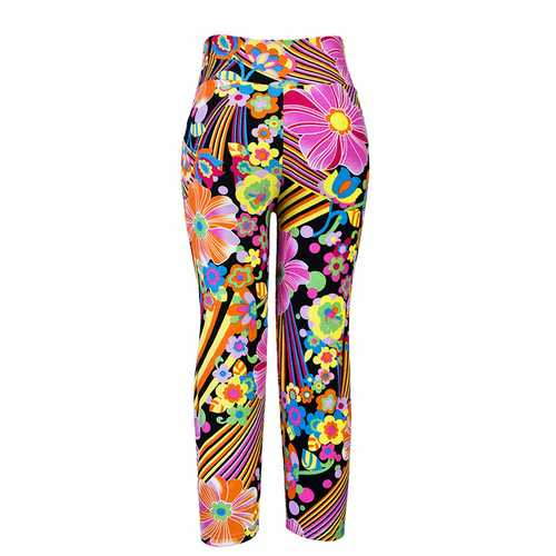 Women Multi Pattern Printed Sports Yoga Stretch Leggings