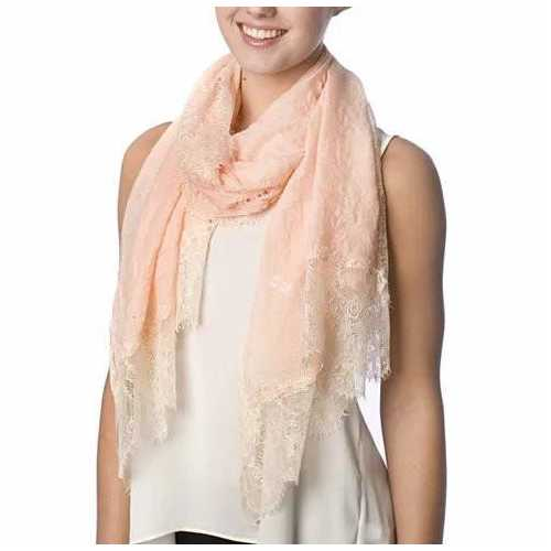 Dream Day Lace Border Scarf