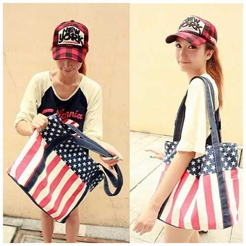 Star Spangled Canvas Bag