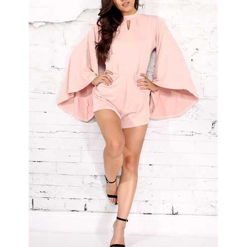 French New Syle Big Horn Sleeve Comfortable Romper and Jumpsuit