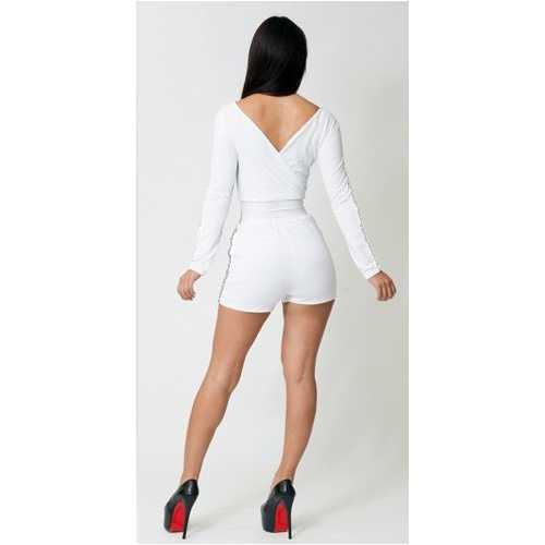 New white sexy bandage dress