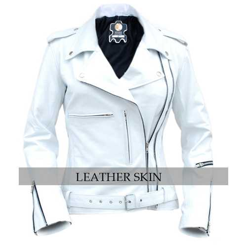 White Leather Jacket