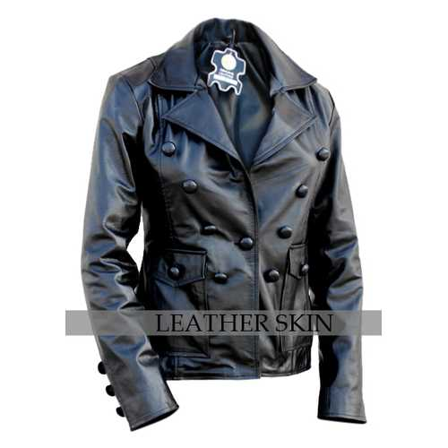 Black Punk Women Leather Jacket